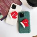 適用于iphone11卡通手工毛線手套羊羔絨手機殼