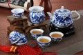 青花玲瓏茶具套裝景德鎮純手工陶瓷手繪白瓷茶壺茶杯整
