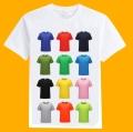 彩色莫代爾定制圓領T恤