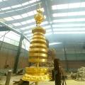 鑄銅塔剎 銅寶頂 寺院銅塔尖