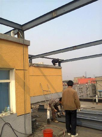 钢结构二层搭建,复式层阁楼
