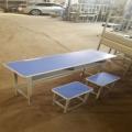 南陽雙人學生課桌凳 鋼木課桌凳