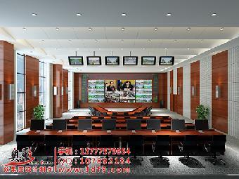 机房效果图制作,监控室效果图设计,机房鸟瞰图设计