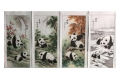 畫王滕黛夢臻品國畫限量組國寶熊貓圖萬代昌盛圖醉酒圖