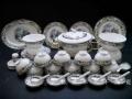 青瓷龍鳳骨瓷碗碟套裝家用景德鎮陶瓷餐具創意簡約歐式
