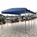 柳州門市伸縮蓬推拉棚移動停車棚汽車帆布蓬固定鋼筋棚