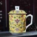 景德鎮骨瓷簡約陶瓷杯子水杯茶杯純白色馬克杯定制