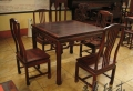 大紅酸枝茶桌家具榫卯工藝