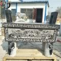 石雕香爐鼎 青石仿古祭祀圓形香爐 供桌擺件