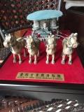 原大銅車馬純銅馬車 4米長馬車酒店奢侈擺件西安臨潼