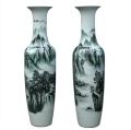 大花瓶擺件中式客廳落地青瓷裝飾