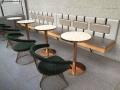 網紅奶茶店圓桌餐椅組合金屬靠背休閑椅深圳宜尚定做