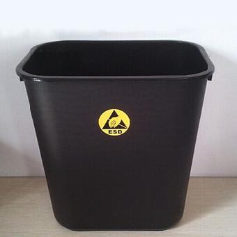 经销黑色永久防静电垃圾桶esd垃圾桶pp材质方形