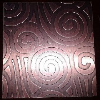 紅古銅不銹鋼蝕刻板