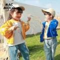 供应日韩棉麻系品牌三个小朋友童装折扣货源批发