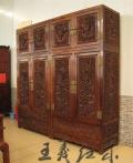工藝大師手工雕刻紅木書柜家具