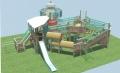 兒童進口木制感統體能組合.幼兒園多功能攀爬架