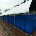 帆布養殖魚池設計圖,養殖帆布水池造型定做