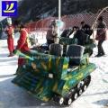 哟哟哟切克闹 坦克一起耍起来!雪地游乐坦克车项目