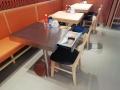 帶抽屜餐桌定制越南菜板式餐桌椅四人位餐桌