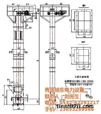斗式提升机青岛旭东电力设备ZBT500斗式提升义乌市俊曼电子图片