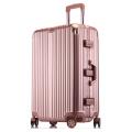 工廠生產時尚鋁框拉桿箱萬向輪行李箱男女密碼箱