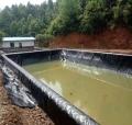 駐馬店養豬場沼氣池土工膜儲液池黑膜設備建造技術