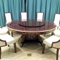 联肯家具 食堂电动转盘餐桌面12人圆形中式酒店餐桌