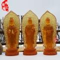 深圳佛像工廠直銷 西方三圣琉璃佛像觀音菩薩阿彌陀佛