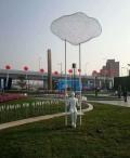連云港網格鏤空烤漆人物雕塑 城市道路綠地休閑擺件