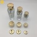 供應八角金色香水蓋 香水瓶金屬蓋定制 鋅合金香水蓋