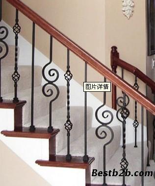 济南铁艺楼梯护栏,山东铁艺楼梯护栏