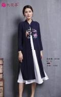 廣州折扣女裝 古風秋裝憶花尋 品牌女裝一手貨源批發