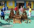 幼兒園大型碳化戶外活動積木兒童趣味多功能益智碳化積
