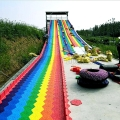 彩虹滑道場地指導安裝大型七彩滑道游樂設備生產