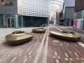 廣西商場不銹鋼樹池雕塑 抽象花池坐凳雕塑擺件