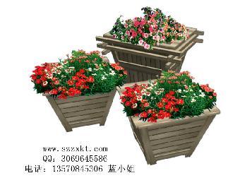 森林主题的花盆装饰