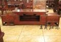 新古典風格花鳥紅木視聽柜家具