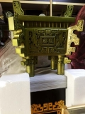 西安樹脂大擺件 鼎盛方鼎電鍍工藝品