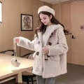 品牌折扣女裝顆粒絨大衣走份批發提供貨源