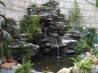 义乌庭院别墅锦鲤鱼池假山喷泉施工制作