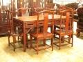 紅木餐臺家具雕花形、材、意