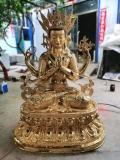 大型銅雕藏佛定做純銅四臂觀音