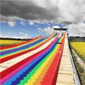 供應彩虹滑道七彩滑坡直銷新疆西藏大西北
