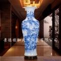 景德鎮陶瓷器手繪落地大花瓶高擺件中式客廳裝飾開業禮