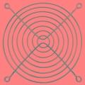 圓形軸流風機防護網工業風扇安全網罩金屬防護罩防鼠排