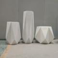 玻璃鋼花盆組合幾何多邊形創意折紙商場美陳景觀花缽