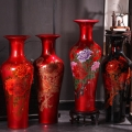 陶瓷大花瓶擺件手繪青花瓷中式客廳落地