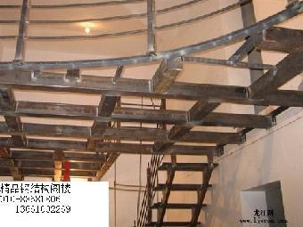 北京朝阳区专业别墅改造室内搭建二层钢结构阁楼制作