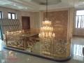 成都別墅銅藝鍍金樓梯護欄現代家居裝飾